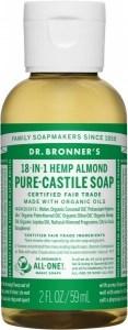 Dr Bronner's Pure Castile Liquid Soap Almond 59ml