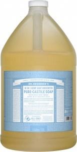 Dr Bronner's Pure Castile Liquid Soap Baby Unscented 3.78L