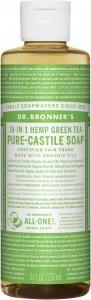 Dr Bronner's Pure Castile Liquid Soap Green Tea 237ml