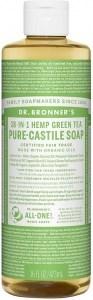 Dr Bronner's Pure Castile Liquid Soap Green Tea 473ml