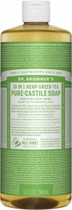 Dr Bronner's Pure Castile Liquid Soap Green Tea 946ml