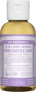 Dr Bronner's Pure Castile Liquid Soap Lavender 59ml