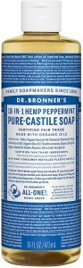 Dr Bronner's Pure Castile Liquid Soap Peppermint 473ml