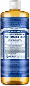 Dr Bronner's Pure Castile Liquid Soap Peppermint 946ml