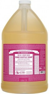 Dr Bronner's Pure Castile Liquid Soap Rose 3.78L