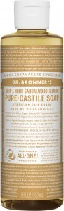 Dr Bronner's Pure Castile Liquid Soap Sandalwood Jasmine 237ml