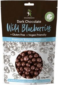 Dr Superfoods Dark Chocolate Wild Blueberries 125g