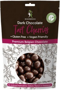 Dr Superfoods Dark Chocolate Tart Cherries 125g