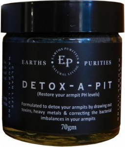 Earth Purities Detox-A-Pit ( Charcoal Armpit Detox ) 70g