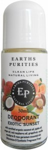 Earths Purities Ladies Natural Exotic Sunset Liquid Roll On Deodorant 50ml