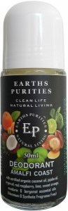 Earths Purities Unisex Natural Amalfi Coast Liquid Roll On Deodorant 50ml