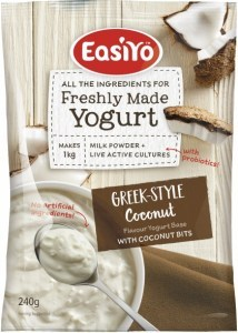 Easiyo Greek Style Coconut with Coconut Bits Yogurt 240g