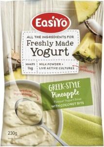 Easiyo Greek Style Pineapple with Coconut Bits Yogurt 230g