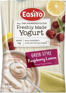 Easiyo Greek Style Raspberry & Lemon Yogurt 240g
