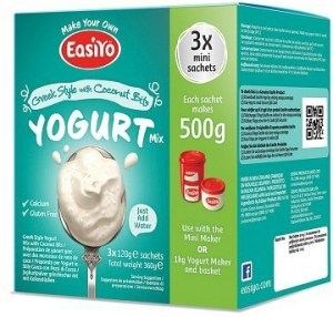 Easiyo Greek Style with Coconut Bits Yogurt (3x120g) 360g