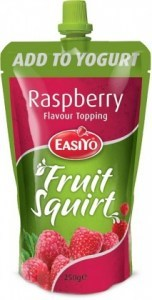 Easiyo Real Fruit Squirt Topping - Raspberry 250g