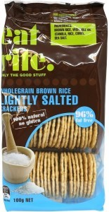 Eatrite Wholegrain Brown Rice Lightly Salted Crackers 100g