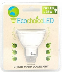 EcochoiceLED 7W Bright Warm Downlight GU5.3 Base