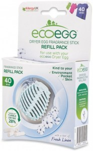 Ecoegg Dryer Egg Fragrance Stick Refill Pack of 4 Fresh Linen