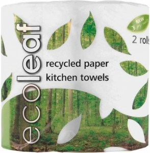 Ecoleaf Recycled Paper Kitchen Towels 3Ply 2Rolls
