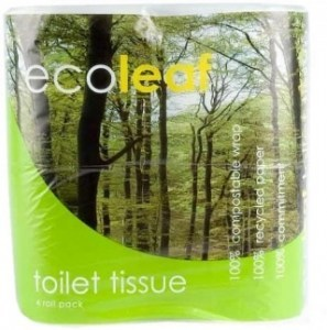 Ecoleaf Recycled Paper Toilet Tissues Rolls 2Ply 4Pack