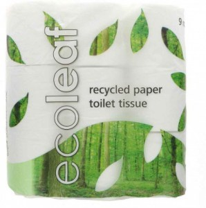 Ecoleaf Recycled Paper Toilet Tissues Rolls 2Ply 9Pack