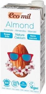 Ecomil Organic Almond Milk Sugar Free + Calcium 1L