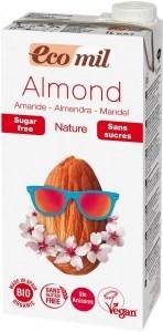 Ecomil Organic Almond Milk Sugar Free 1L