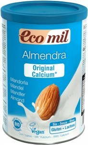 Ecomil Organic Instant Almond Powder Original + Calcium  400g