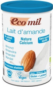 Ecomil Organic Instant Nature Almond Drink Powder Unsweetened + Calcium  400g