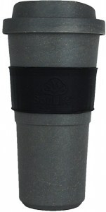 EcoSouLife  All Natural BioSip Coffee Cup Dark Grey 600ml