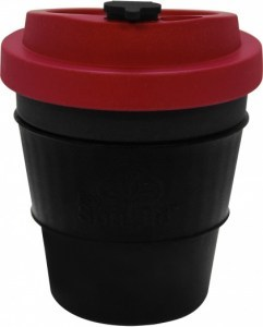EcoSouLife  All Natural BioSip Coffee Cup DrkGrey/Red 350ml