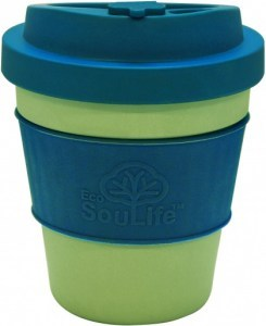 EcoSouLife  All Natural BioSip Coffee Cup LghtLime/Turq 350ml