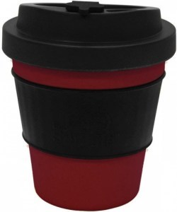 EcoSouLife  All Natural BioSip Coffee Cup Red/DrkGrey 350ml