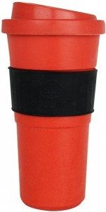 EcoSouLife  All Natural  BioSip Coffee Cup Red/DrkGrey 600ml