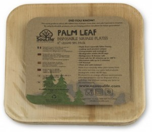 EcoSouLife Areca Leaf (20cm) Square Plate 5Pc Pack