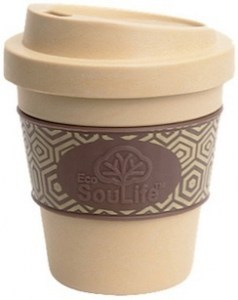 EcoSouLife Bamboo Aroma Sip Traveler Cup Almond 355ml