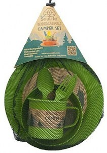 EcoSouLife Bamboo Camper Set Small Green