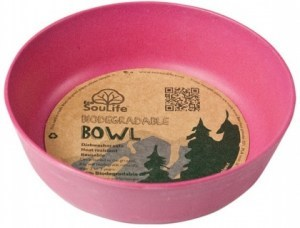 EcoSouLife Bamboo (D15 x H5cm)  Bowl Pink