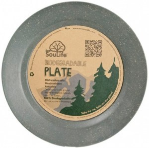 EcoSouLife Bamboo Large Main Plate Charcoal 25cm