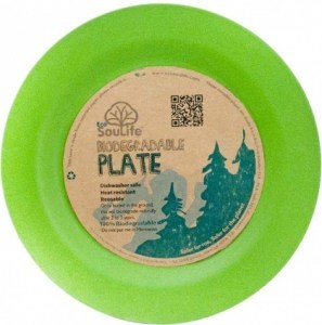 EcoSouLife Bamboo Main Plate Green 25cm