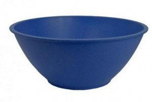EcoSouLife Bamboo (D27 x H11cm) Salad Bowl Sky Blue