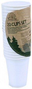 EcoSouLife Cornstarch 237ml Cup Natural 20Pc