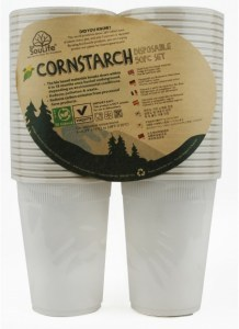 EcoSouLife Cornstarch (475ml) Cup 50Pc Pack Natural