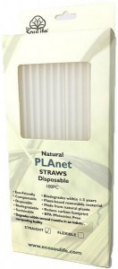 EcoSouLife PLAnet Straws 100Pc Pack White