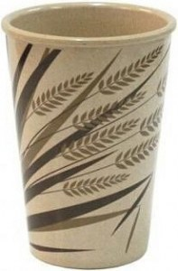 EcoSouLife Rice Husk 15 oz/443ml Print Rice Paddy Cup
