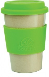 EcoSouLife Rice Husk Cafe Traveler Cup Green Natural 443ml