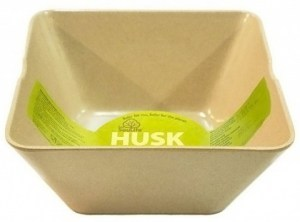 EcoSouLife Rice Husk (D19 x H9cm) Large Square Bowl Natural