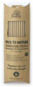 EcoSouLife Sugar Cane Natural Straws 50Pc Pack