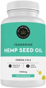 ECS Botanics Hemp Seed Oil Capsules 1000mg 120 capsules
